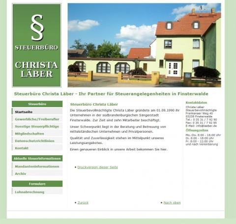 Steuerberatung in Finsterwalde - Christa Läber in Finsterwalde