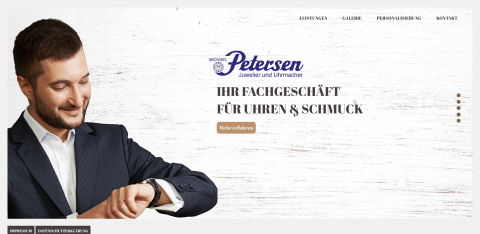 Ihr Partner für hochwertige Uhren: Juwelier und Uhrmacher Petersen in der Nähe von Kiel in Flintbek