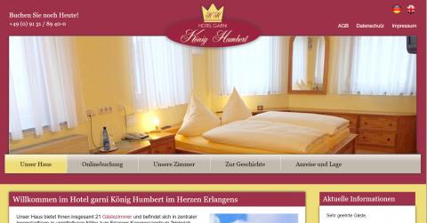 Ihre gemütliche Unterkunft in Erlangen – Hotel Garni König Humbert  in Erlangen