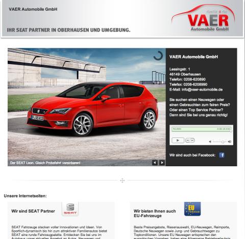Autohaus in Oberhausen: VAER Automobile GmbH in Oberhausen