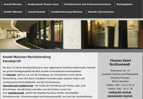 Rechtsanwalt in München: Thomas Vasel in München
