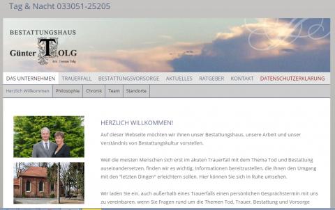 Ihre einfühlsamen Ansprechpartner für Bestattungen in Oranienburg in Löwenberger Land