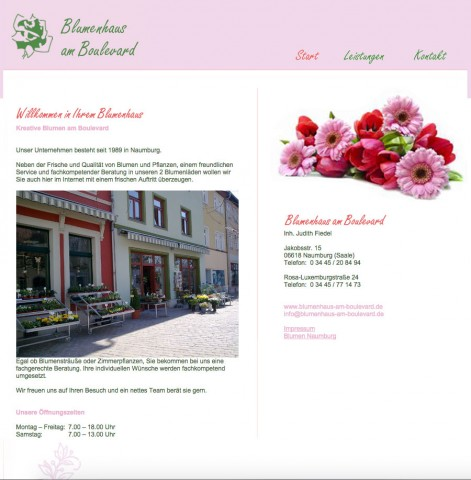Blumen in Naumburg: Blumenhaus am Boulevard in Naumburg/Saale