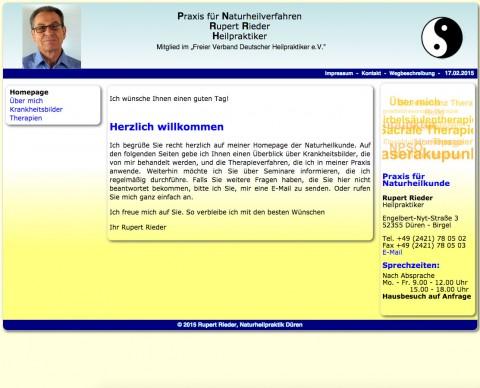 Heilpraktiker Rupert Rieder in Düren - Birgel in Düren - Birgel