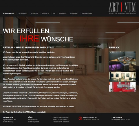 Schreiner in Ingolstadt: Artinum in Ingolstadt