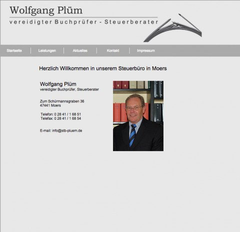 Steuerberatung in Moers: Wolfgang Plüm – vereidigter Buchprüfer und Steuerberater in Moers