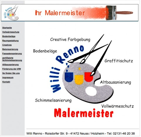 Malermeister Willi Renno in Neuss in Neuss