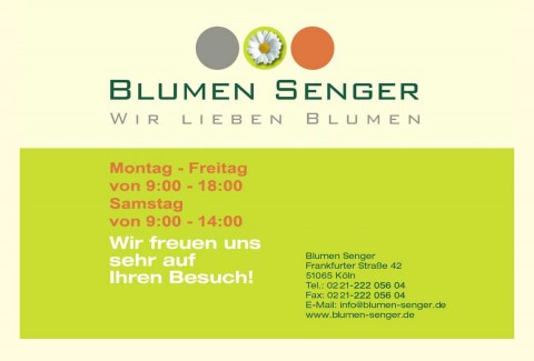 Blumen für jeden Anlass: Blumengeschäft Senger in Köln Mülheim in Köln