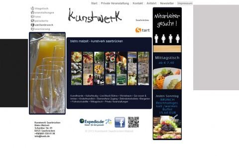 Die besondere Gaststätte: Kunstwerk Saarbrücken mit Bistro Malzeit  in Saarbrücken