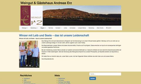 Entspannen an der Mosel: Pension und Wein der Familie Erz  in Brauneberg