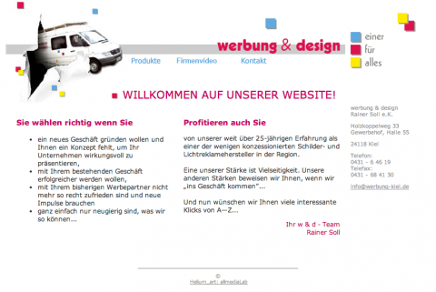 Werbung und Design in Kiel in Kiel
