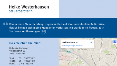 Steuerberatung Heike Westerhausen in Hannover in Hannover