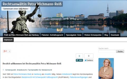 Rechtsanwältin in Hamburg: Rechtsanwaltskanzlei Petra Wichmann-Reiß in Hamburg