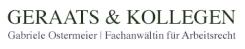 Arbeitsrecht und Scheidungsrecht, Fachanwältin Gabriele Ostermeier,  Kanzlei Geraats Münster | Münster