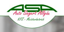 Erfahrene Kfz-Werkstatt in Kaufbeuren: ASA – Auto Siegert Allgäu | Kaufbeuren-Neugablonz