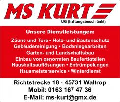 Ihr Experte für Entrümpelungen in Waltrop: MS Kurt UG | Waltrop
