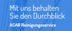 Ihr Partner für eine Unterhaltsreinigung in Herne: Acar Reinigungsservice | Herne