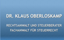 Fachanwalt für Steuerrecht Dr. Klaus Oberloskamp in Schwerin | Schwerin