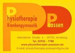 Ihre Physiotherapie in Arnsberg-Neheim: Praxis für Krankengymnastik Paassen | Arnsberg-Neheim