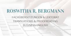 Professionelle Übersetzungen von Roswitha Bergmann in Ottobrunn | Ottobrunn