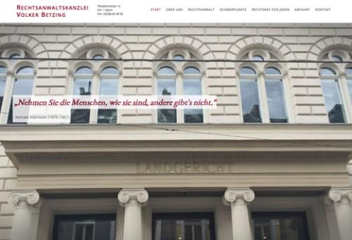 Firmenprofil von: Anwaltskanzlei Volker Betzing – Rechtsanwalt für Verkehrsrecht in Bonn
