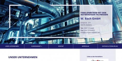 Firmenprofil von: Der Spezialist für Pumpentechnik: W. Bach GmbH in Koblenz