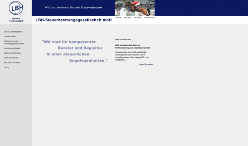 Firmenprofil von: LBH - Steuerberatungsgesellschaft mbH in der Niederlassung Leinefelde