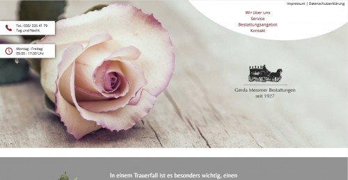 Firmenprofil von: Beerdigungen in Berlin: Gerda Messmer Bestattungen