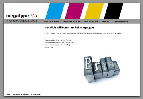 Firmenprofil von: Professionelle Druckverfahren bei der Druckerei Megatype in Würzburg