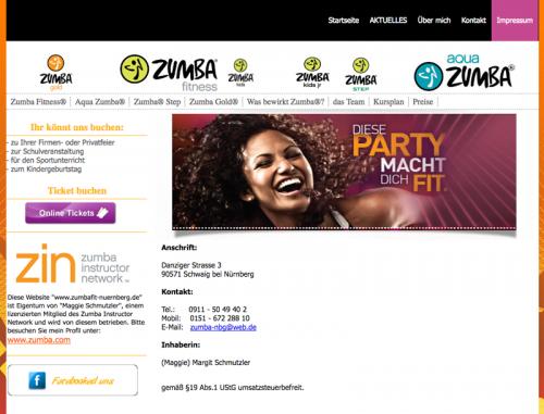 Firmenprofil von: Zumba Fitness in Nürnberg und Umland