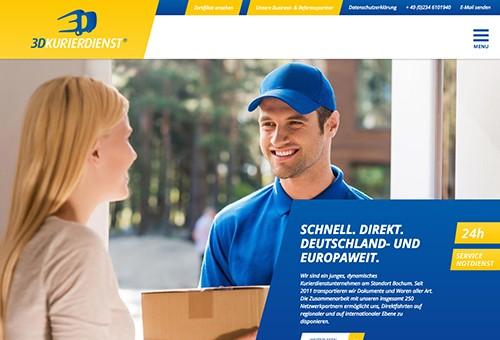 Firmenprofil von: 3D-Kurierdienst in Bochum:  Schnell zur Stelle