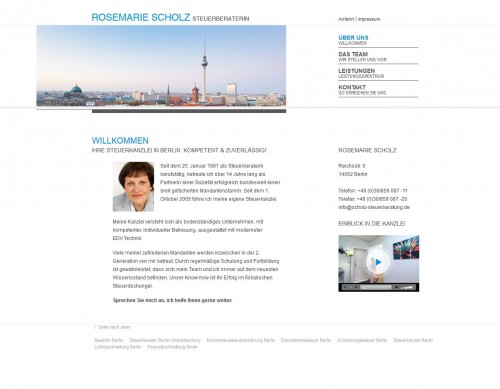 Firmenprofil von: Lohnbuchhaltung in Berlin: Rosemarie Scholz