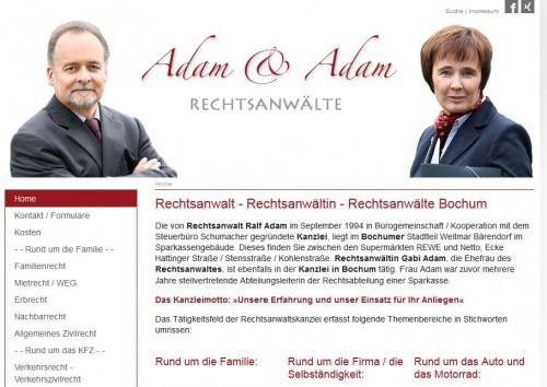 Firmenprofil von: Familienrecht: Rechtsanwälte Adam & Adam in Bochum