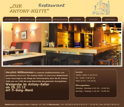 Firmenprofil von: Restaurant Zur Antony-Hütte in Oberhausen