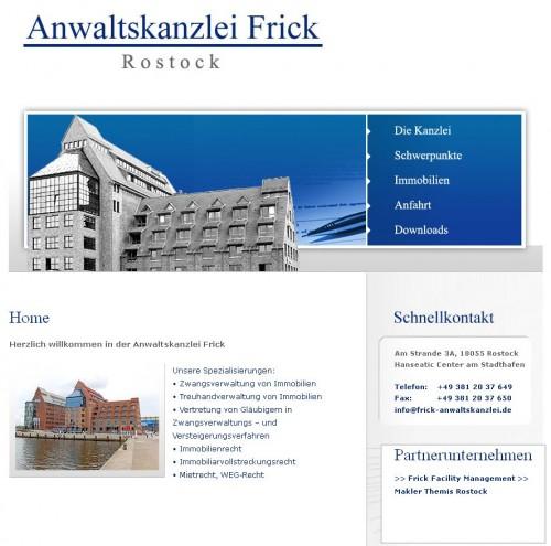 Firmenprofil von: Michael R. Frick, Rostock, Rechtsanwalt & Zwangsverwalter für Immobilien