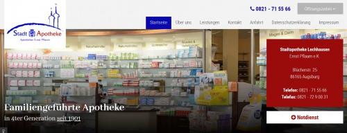 Firmenprofil von: Ihre Gesundheit in guten Händen – Stadtapotheke in Augsburg-Lechhausen