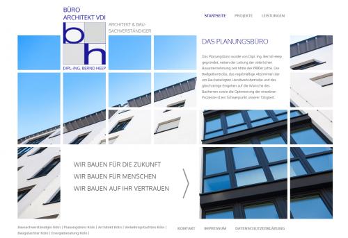 Firmenprofil von: Hauskauf mit einem Bausachverständigen: Architekt und Sachverständiger Dipl.-Ing. Bernd Heep in Köln