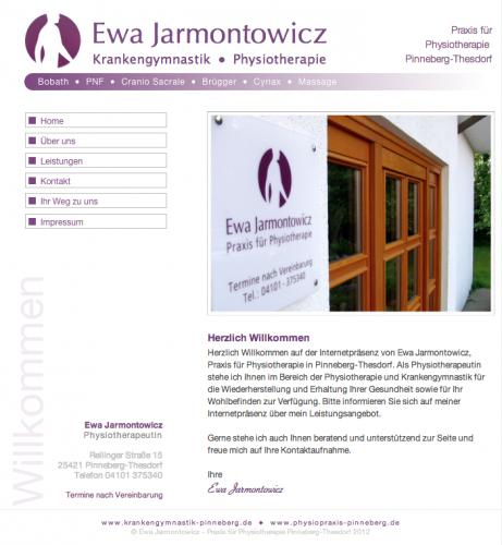 Firmenprofil von: Praxis für Physiotherapie Ewa Jarmontowicz in Pinneberg
