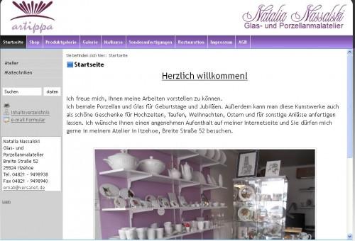 Firmenprofil von: Artippa Glas- und Porzellanmalatelier in Itzehoe