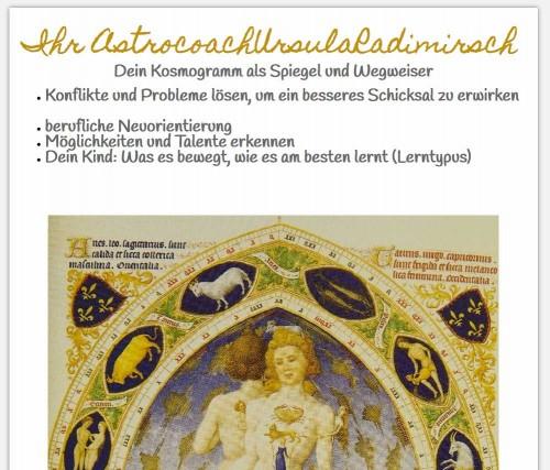 Firmenprofil von: Mit Astrologie sein Leben bewusst gestalten – Astrologin Ursula Radimirsch in Schwaigern/Leintal