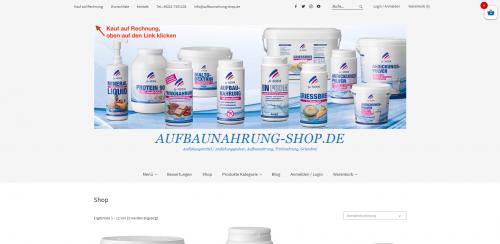 Firmenprofil von: Ihr Partner für Andickungspulver: Aufbaunahrung-Shop.de