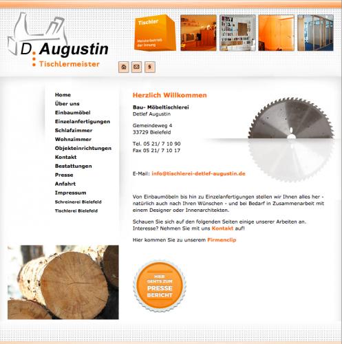 Firmenprofil von: Tischlerei Detlef Augustin in Bielefeld