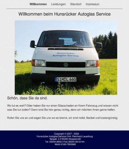 Firmenprofil von: Hunsrücker Autoglas Service in Woppenroth