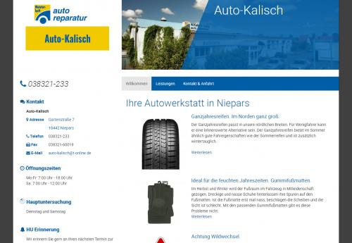 Firmenprofil von: Kfz-Werkstatt bei Stralsund - Auto Kalisch in Niepars