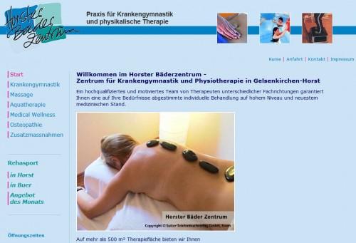 Firmenprofil von: Horster Bäderzentrum: Krankengymnastik und Physiotherapie in Gelsenkirchen-Horst