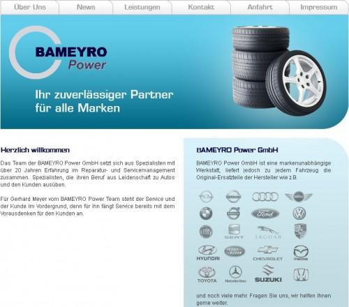 Firmenprofil von: BAMEYRO Power GmbH in München