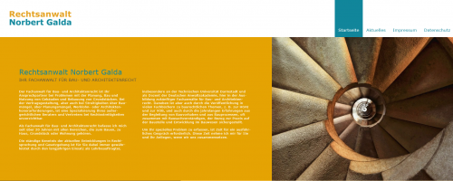 Firmenprofil von: Ihr Partner zum Thema Baurecht: Rechtsanwalt Galda