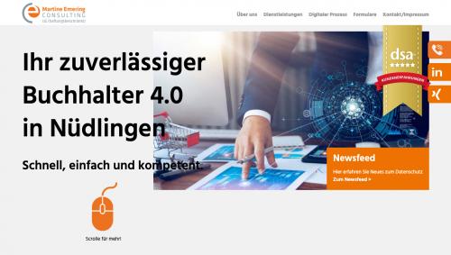 Firmenprofil von: Ihre Expertin für digitale Lohnbuchhaltung in Bayern – Martine Emering Consulting UG