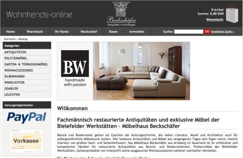 Firmenprofil von: Onlineshop Möbelhaus Beckschäfer GmbH + Co KG in Arnsberg