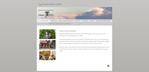 Firmenprofil von: Bestattungshaus Günter Tolg: der erfahrene Bestatter in Oranienburg